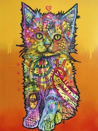 Love Kitten, Cats, Kitty, Kitties, Stencils, Pop Art, Orange fade to yellow, Pets