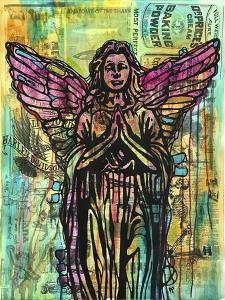 Most Perfect Angel, Angels, Statues, Dripping, Pop Art, Watercolor, Religious, Spirituality by Russo Dean