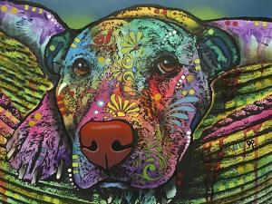 Safe and Sound, Dogs, Animals, Pets, Laying in bed, Stencils, Pop Art by Russo Dean