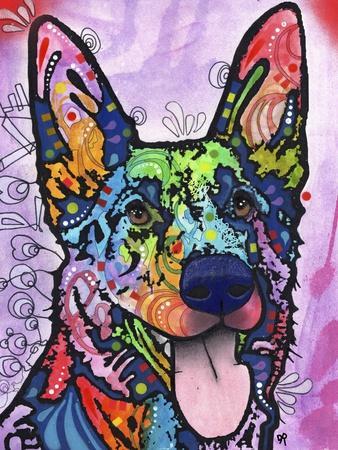 Shepherd Love, Dogs, Pets, Ears, Happy, Panting, Tongue, Love, Pop Art, Colorful, Stencils