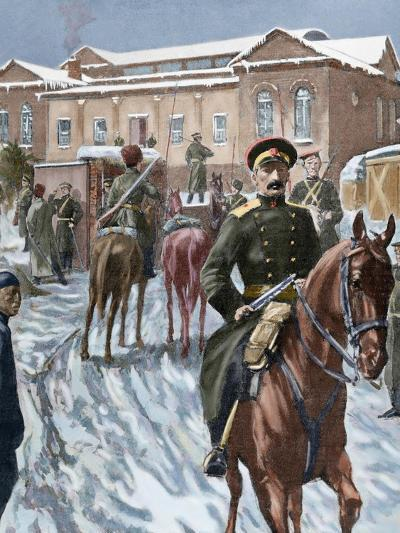 Russo-Japanese War (1904-1905). Russian Headquarters at Port Arthur--Giclee Print