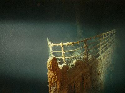 Rusted Prow of the R.M.S. Titanic Ocean Liner, Sunk off Newfoundland, North Atlantic Ocean--Photographic Print