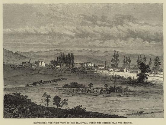 Rustenburg, the First Town in the Transvaal Where the British Flag Was Hoisted--Giclee Print