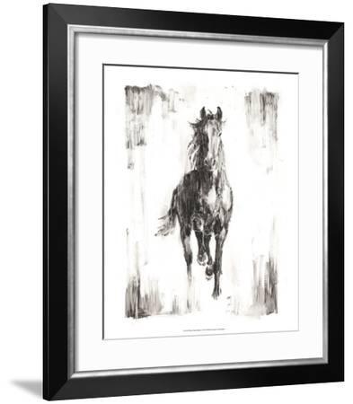 Rustic Black Stallion I-Ethan Harper-Framed Art Print