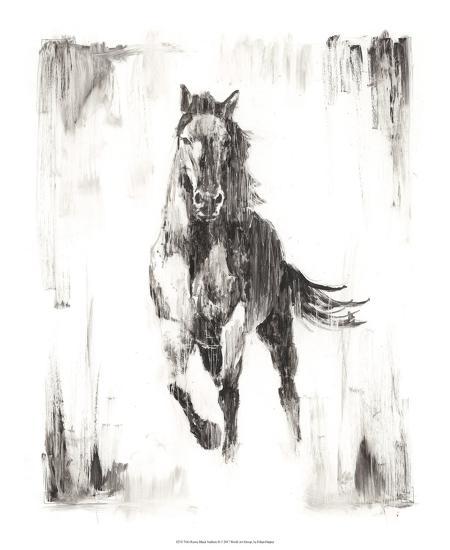 Rustic Black Stallion II-Ethan Harper-Art Print
