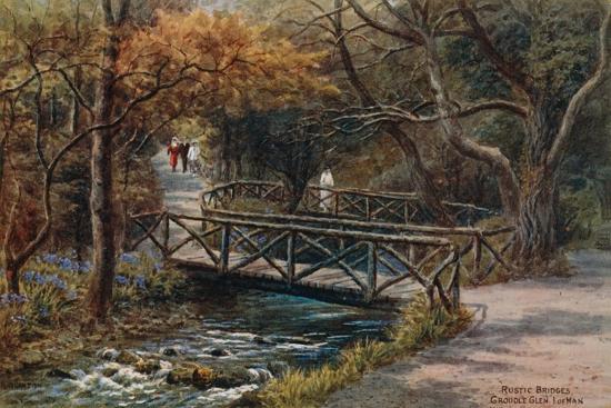 Rustic Bridges, Groudle Glen, I of Man-Alfred Robert Quinton-Giclee Print
