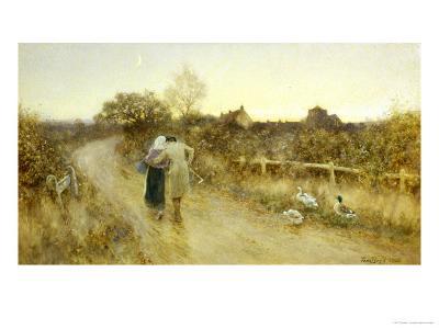 Rustic Courtship-Thomas J. Lloyd-Giclee Print
