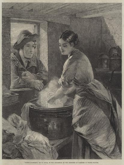 Rustic Courtship-William Lucas-Giclee Print