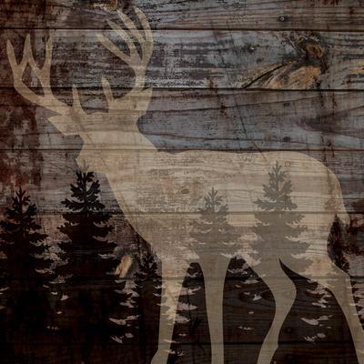 Rustic Deer-Piper Ballantyne-Art Print