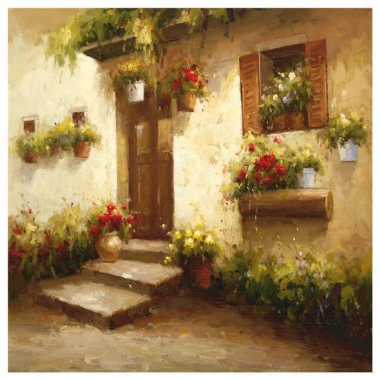 Rustic Doorway II-David Lakewood-Art Print