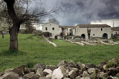 Rustic Farmhouses Incorporating Stones from the Near Ancient Roman City of Saepinum--Giclee Print