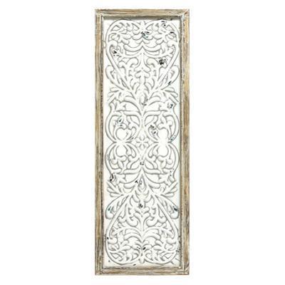 Rustic Framed Embossed Metal Panel