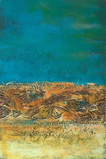 Rustic Frieze on Teal I-Lanie Loreth-Premium Giclee Print