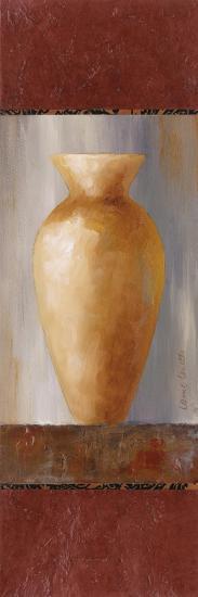 Rustic Gold Flower Vase I-Lanie Loreth-Art Print
