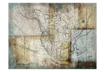 Rustic Map Two-Jace Grey-Art Print