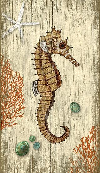 Rustic Seahorse--Wood Sign