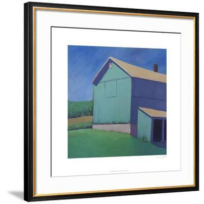 Rustic Teal-Carol Young-Framed Limited Edition