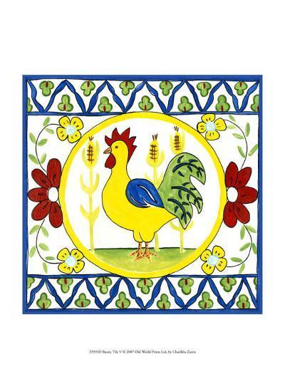 Rustic Tile V-Chariklia Zarris-Art Print