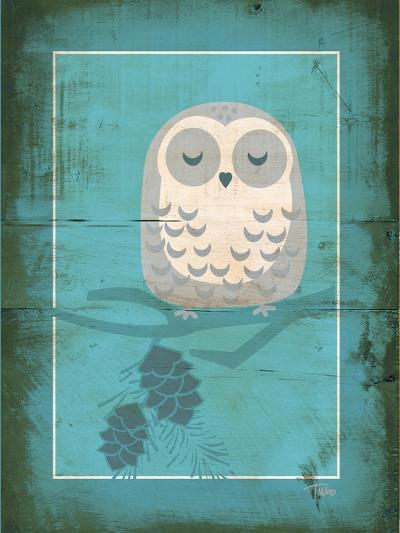 Rustic Woodland Owl-Teresa Woo-Art Print