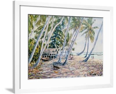 Rustling Palms, Zanzibar, 2002-Tilly Willis-Framed Giclee Print