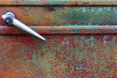 Rusty Old Truck Details Near Salmo, British Columbia, Canada-Chuck Haney-Photographic Print