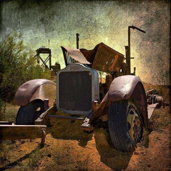 Rusty Old Truck in America-Salvatore Elia-Photographic Print