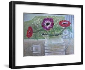 Anemones in White Jug, 2013 by Ruth Addinall