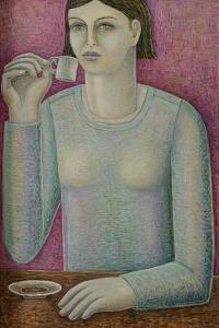 Boxy Espresso Girl by Ruth Addinall