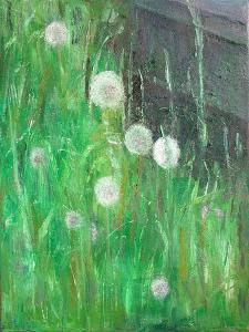 Dandelion Clocks in Grass, 2008 by Ruth Addinall