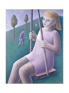 Girl on Swing by Ruth Addinall