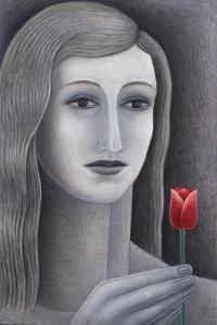 Girl with Tulip by Ruth Addinall