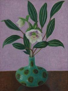 Hellebores with Viburnum Leaves by Ruth Addinall