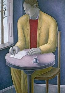 Man Writing by Ruth Addinall