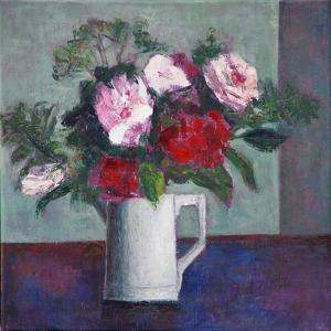 Red and White Roses by Ruth Addinall