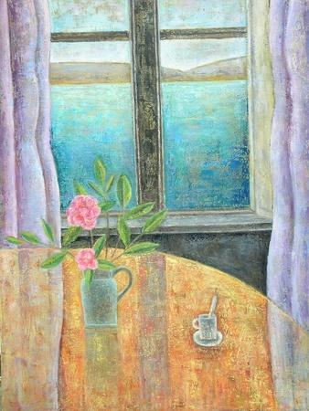 Still Life in Window with Camellia, 2012