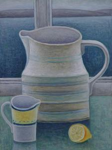 Still Life with Two Jugs and Lemon by Ruth Addinall