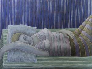 To Sleep, Perchance to Dream (Stripes), 2014 by Ruth Addinall