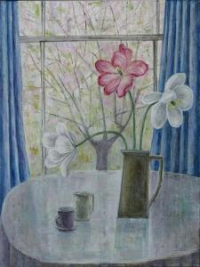 Tulips with Cherry Blossom, 2014 by Ruth Addinall
