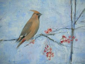Waxwing (Detail), 2013 by Ruth Addinall