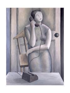 Woman on Phone by Ruth Addinall