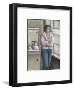 Woman Smoking at Window by Ruth Addinall