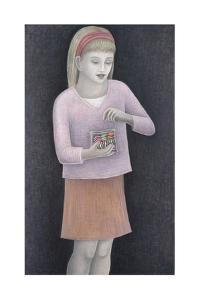Young Girl with Sweets by Ruth Addinall