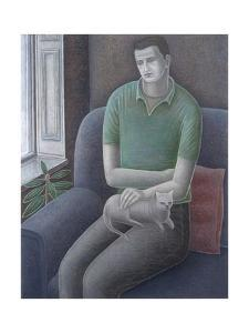 Young Man with Cat, 2008 by Ruth Addinall