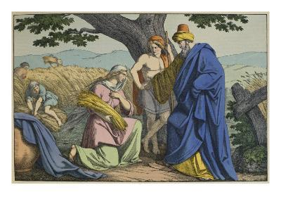 Ruth and Boaz, Illustration from 'L'Ancien Testament'--Giclee Print