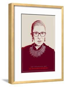 Ruth Bader Ginsburg - The Notorious RBG (Red)