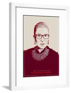 Ruth Bader Ginsburg - The Notorious RBG (Red)