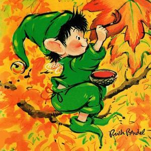Painting the Leaves - Jack & Jill by Ruth Bendel