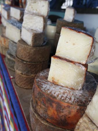 Goat's Cheese on Farmers' Market Stall Near Plaza Nuestra Senora Del Pino