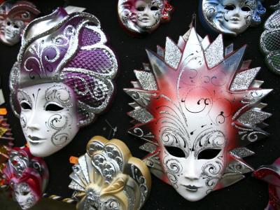 Painted Masks in Souvenir Shop
