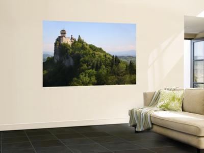 Rocca Cesta Castle Built on Highest Peak of Titan Mountain of Medieval San Marino